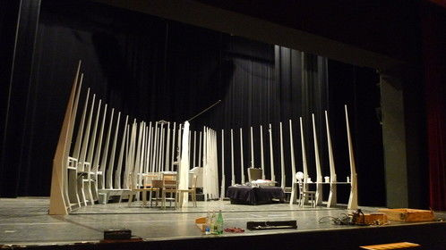 """My stage design for """"Streetcar Named Desire"""", as directed by Wolf E. Rahlfs (Music by Paolo Greco) in Bruchsal, Germany."""