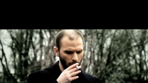 Some people smoke socially.  I only smoke when the role calls for it.  And this one's an e-cigarette on the set of Black Rose (2012).