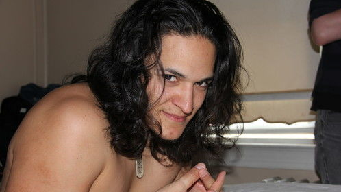 Noel Reyna (Nimrod) getting into his sexy frame of mind, just before his love scene.