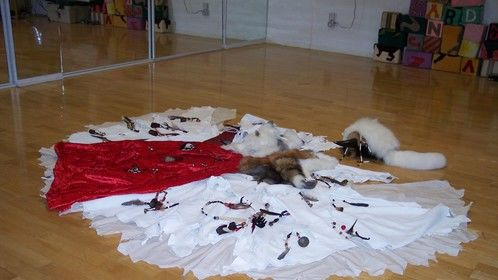 Shaman laid out on the floor - 2004 - I made about a dozen of these for HILTI Corporation and shipped them worldwide Leather, velvet, bones, beads, feathers, furs, cotton.