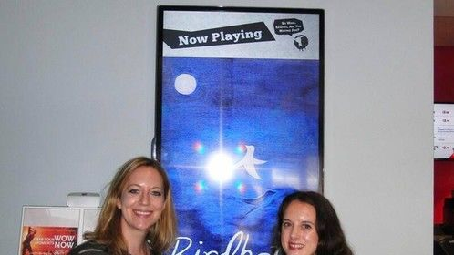 with line producer Charis Hearn at BIRDBATH screening at Laemmle Royal in West L.A., July 2013