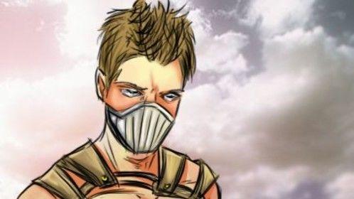Superhero AU, of a Dust character.