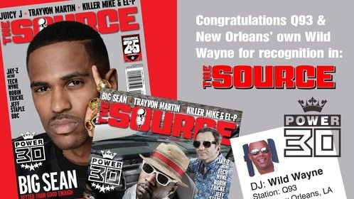 Wild Wayne voted one of the Top 30 DJ's in the country by The Source Magazine:  3rd Year in a row.