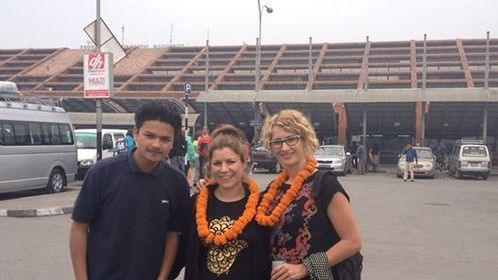 There are a lot of people who love to explore themselves in the adventurous place like Nepal to do a different Trekking,Expedition,Bunjy,Rafting,Cannoying,Jungle Safari etc.so one of them Our two French Guests in 5th April 2014 also came for a Beautiful Ghandruk/Ghorepani Trek which is one of the easiest as compared to other trek like EBC OR ABC but so much exiting trek in Nepal so if anybody Interested to do this kind of trekking we would love to provide such an lifetime Opportunity to make their trip to Nepal so much exiting and Memorable. — at Tribhuwan International Airpot.
