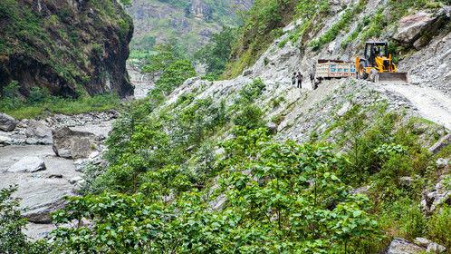 Road Construction between Beni and KagBeni, Nepal