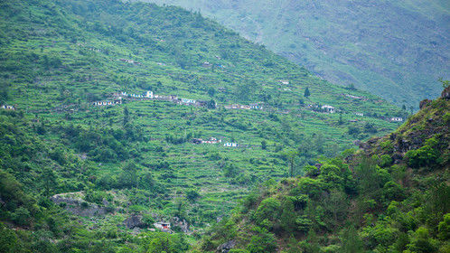 Village in Lower Mustang, Nepal
