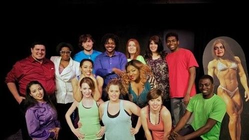 """Cast of """"3XL: The Musical"""" ---book and lyrics by Lori Mannette and music by Giuseppe Ritorto"""