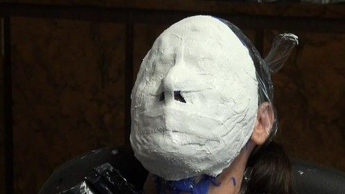Lifecast. Support shell using plaster bandages.