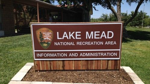 Exterior sign I designed and made for the Park Ranger's Office - Lake Mead