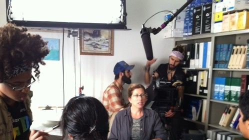 "On the set of ""El Camino"" Sept 6, 2014"