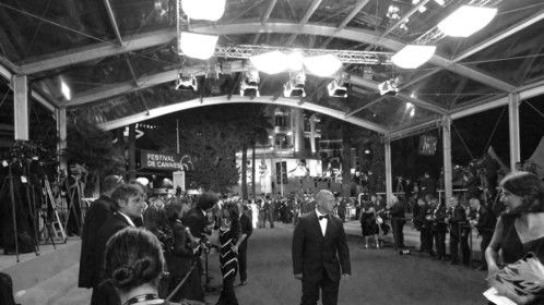This is a photo of a red carpet event in Cannes i went to in 2010. I used photoshop to de-saturate the color.