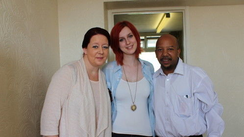 Only Human - Thursday shoot - The 'happy' Family -  Penny Judd, Katie Leitch, Leon Corbin