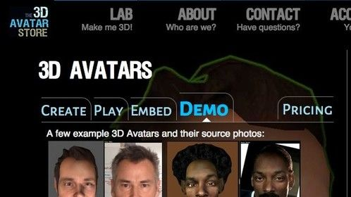 Just added this to my web site. It shows example 3D Avatars and the single source photo used to create it.