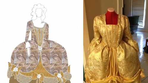 Historically Accurate Belle (1790s), design to done - 2014