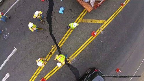 Napa California EarthQuake (Copter Shot) #2