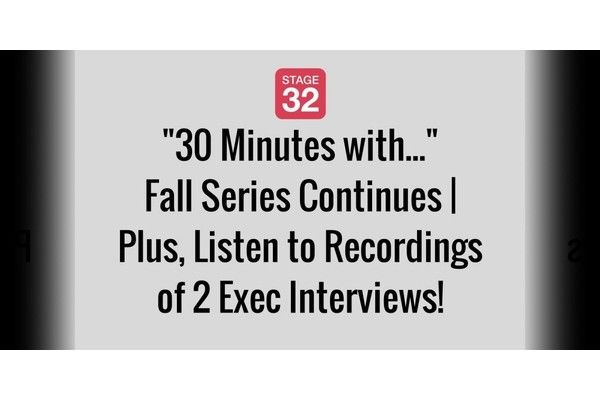 """""""30 Minutes with..."""" Fall Series Continues 