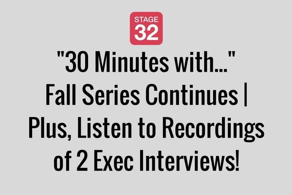 """30 Minutes with..."" Fall Series Continues 