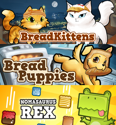 BreadKittens, BreadPuppies, & Nomasaurus Rex