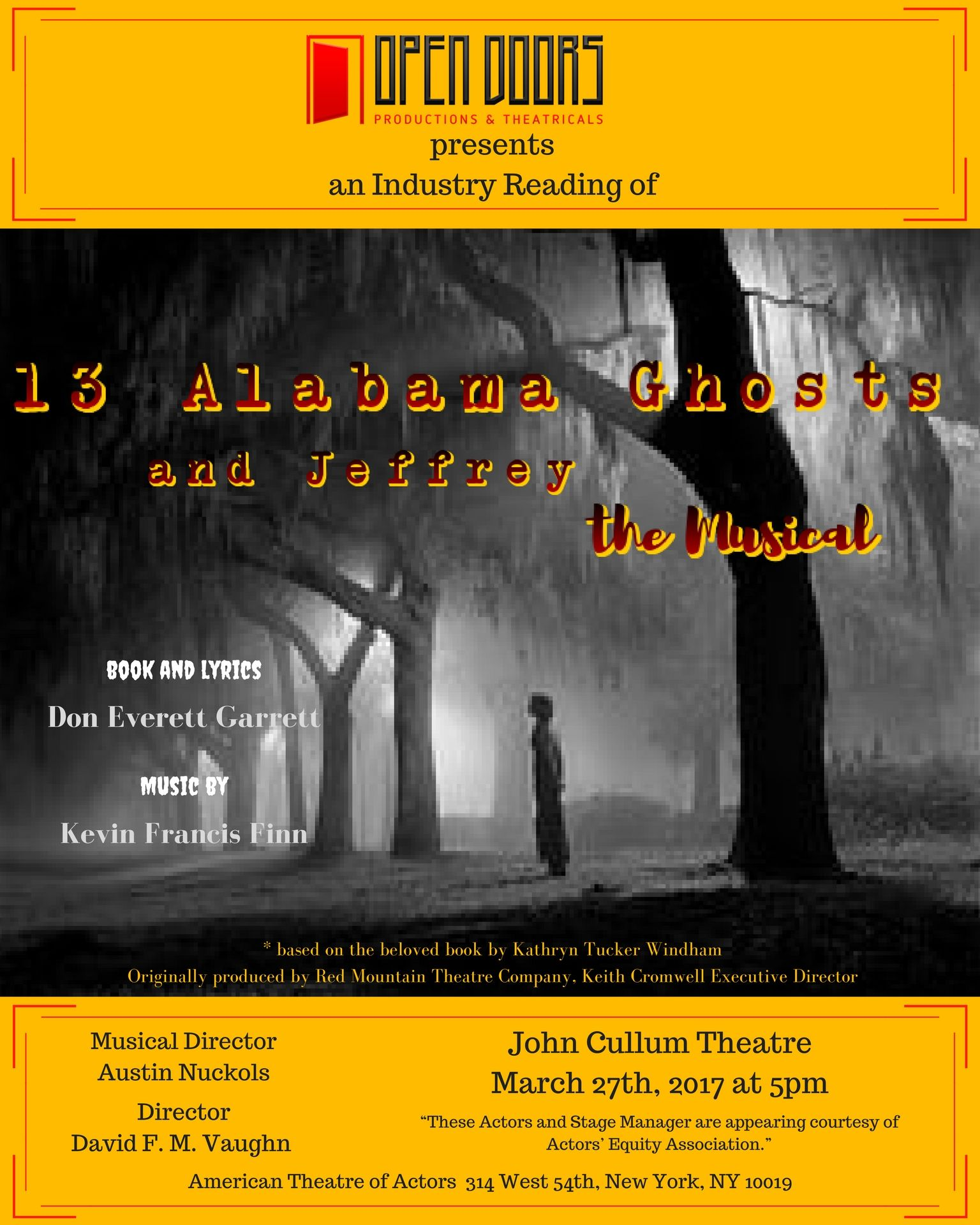 Industry Reading - 13 Alabama Ghosts and Jeffrey, the Musical