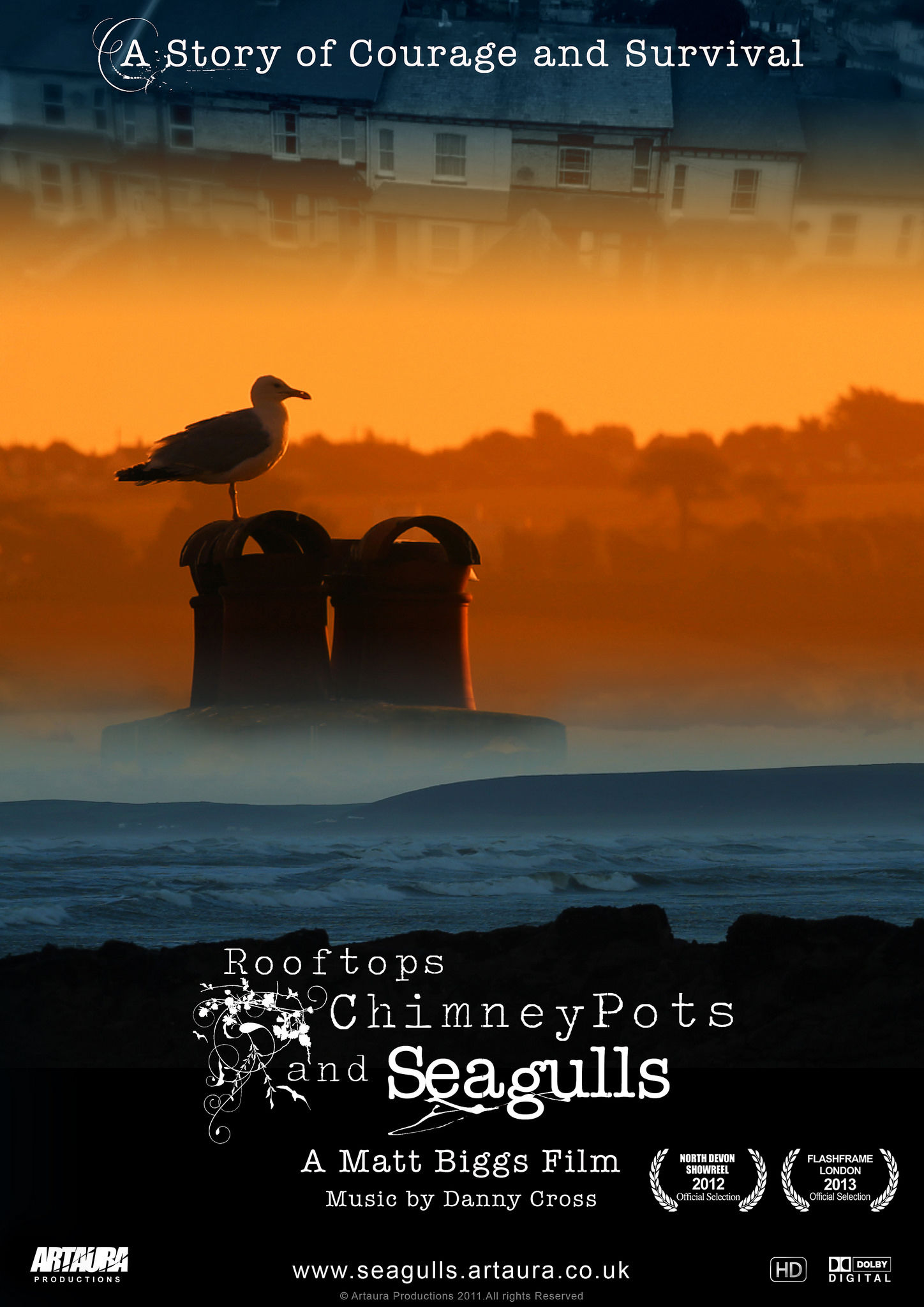 Roof Tops, Chimney Pots & Seagulls