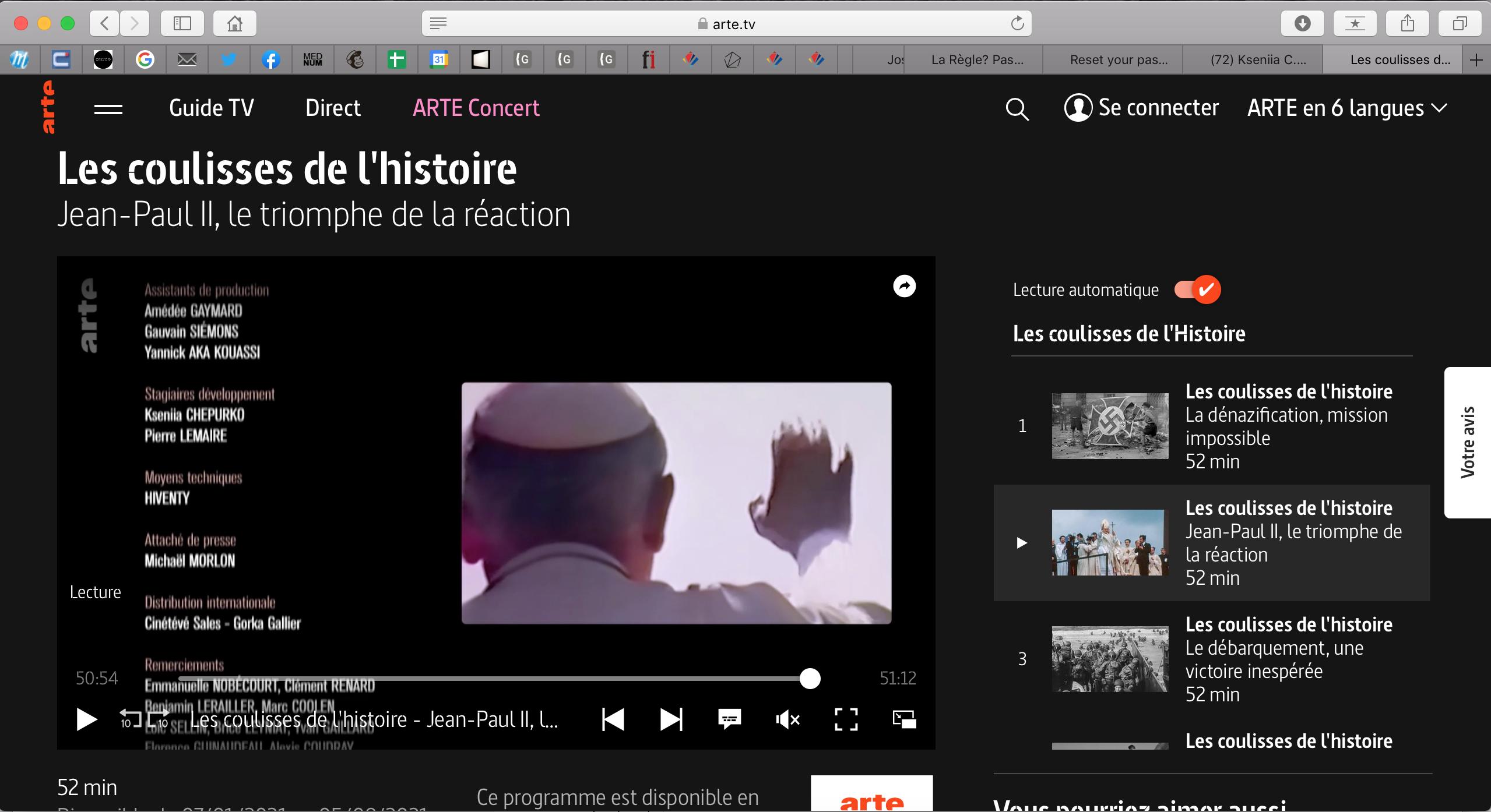 Les coulisses de l'histoire : Jean-Paul II, le triomphe de la réaction