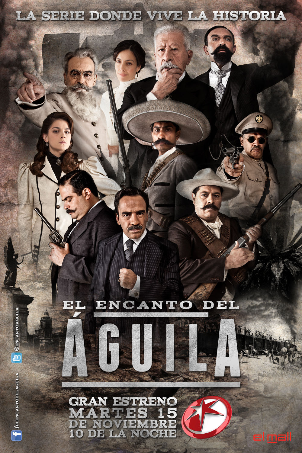El Encanto del Aguila / Title sequence & Marketing campaign