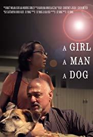 A Girl a Man a Dog