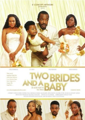 Two brides and a baby