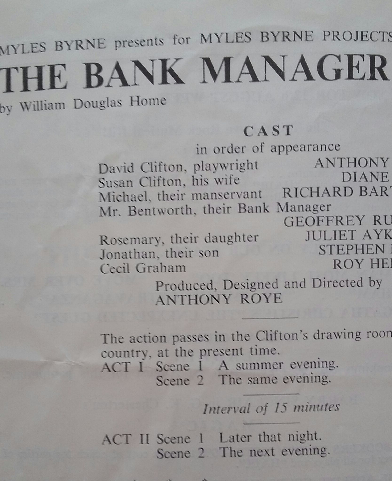 The Bank Manager. Directed By Antony Roye